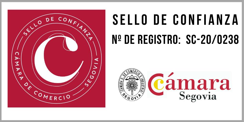 Sello de confianza de la Cámara de Segovia